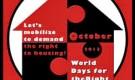 Outubro 2013, Jornadas Mundiais Despejos Zero – pelo Direito de Habitar